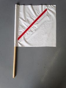 "Picture of 20""x20"" Vinyl Safety Flag WHITE w/ 36"" Plastic Stiffener"