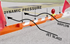 Picture of 8ft Airport Low-Profile Barricade (Orange)
