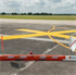 """Picture of 4ft x 30ft Temporary Taxiway """"X"""" YELLOW Marker w/ 6"""" BLACK Border"""