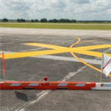 "Picture of 5ft x 30ft Temporary Taxiway ""X"" YELLOW Marker"