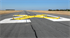 """Picture of 10ft x 60ft Temporary Runway """"X"""" YELLOW Closure Marker"""
